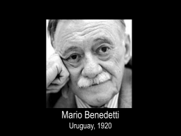 mario benedetti - Oracionvocacional.org