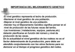 mejoramiento genético