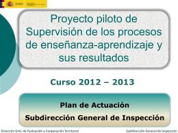 Proyecto de supervisión de Centros 2012