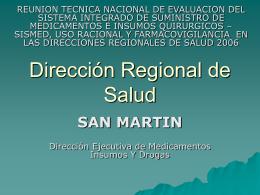 Dirección Regional de Salud