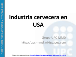 Dirección Estrategica Strategic Management - UPC-MMD