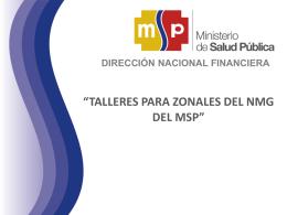 Financiero - Ministerio de Salud Pública