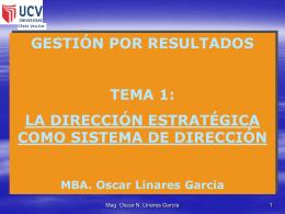 1.1 Clase-El marco de la Dirección Estratégica