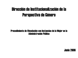 Dirección de Institucionalización de la Perspectiva de Género