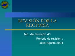 REVISIÓN DE LA DIRECCIÓN 41