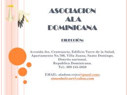 ASOCIACION ALA DOMINICANA Dirección