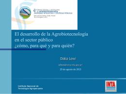 Dirección Nacional - foroagrobio.com.ar