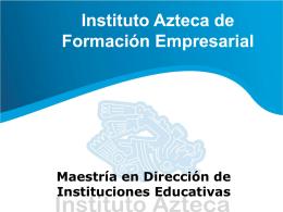 Maestria en Direccion de Instituciones Educativas