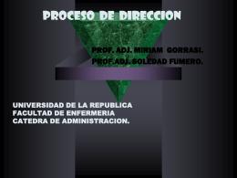 Proceso de dirección - elgrupo2009enfermeria