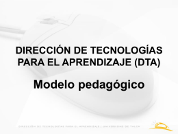 dirección de tecnologías para el aprendizaje (dta)