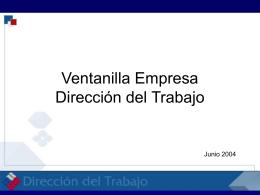 Documento de apoyo Sr. Héctor Muñoz, Dirección del Trabajo