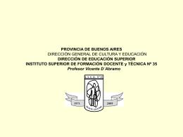 PROVINCIA DE BUENOS AIRES DIRECCIÓN GENERAL