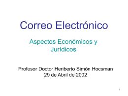 Correo Electrónico Aspectos Jurídicos y Económicos