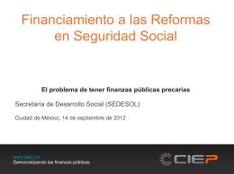 Finanzas Públicas y Demografía