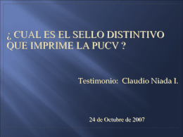 Testimonio: Claudio Niada I.