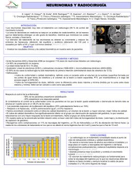 neurinomas y radiocirugía