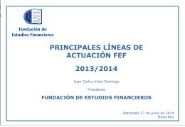 Diapositiva 1 - FEF - Fundación de Estudios Financieros