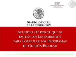 Acuerdo Secretarial 717