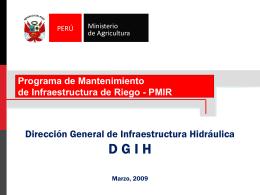 Diapositiva 1 - Ministerio de Agricultura
