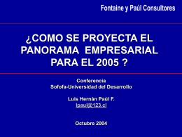 Exposición de Luis Hernán Paul, de Fontaine y Paul