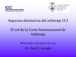 Presentación Dr. Paul Arrighi - Cámara Nacional de Comercio y