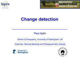 Change detection lecture