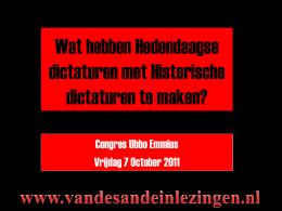 Hedendaagse Dictaturen