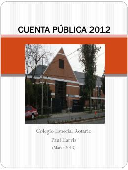 cuenta pública 2012 - Corporación Las Condes