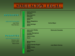Simulación Legal - Integración de Áreas