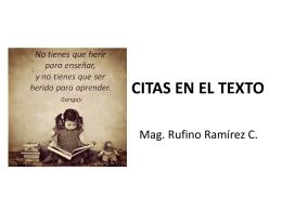3 citas en el texto - Educación, Arte, y Turismo