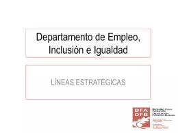 Departamento de Empleo, Inclusión e Igualdad