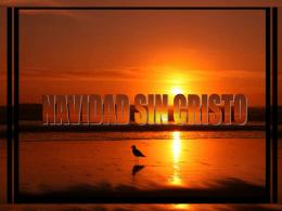 NAVIDAD SIN CRISTO