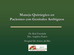 manejo quirurgico de pacientes con genitales ambiguos
