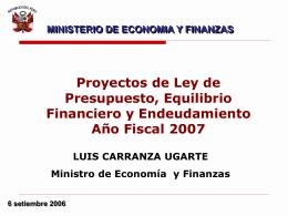 Ministerio de Economía y Finanzas - Congreso de la República del