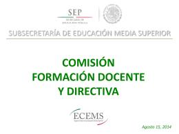 Formación Docente y Directiva