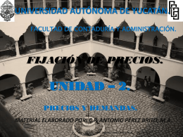 Precios y Demandas - Universidad Autónoma de Yucatán