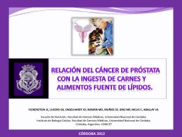 Relación del cáncer de próstata con la ingesta de carnes y