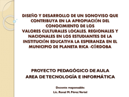 PPA AREA DE TECNOLOGIA E INFORMATICA