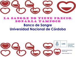 Presentación del Banco de Sangre UNC