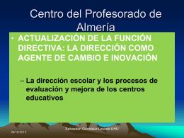 Evaluación Institucional - Redes profesionales de CEPIndalo