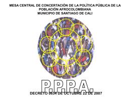 MESA CENTRAL DE CONCERTACIÓN DE LA POLÍTICA PÚBLICA