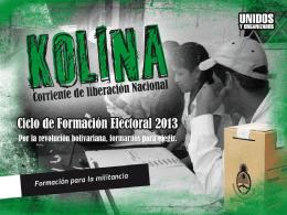 FISCALES KOLINA – Elecciones 2013