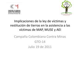 Mesa Nacional de Dialogo Asistencia Integral a Víctimas de MAP