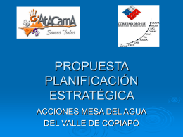 Propuesta Planificacion Estrategica, Acciones Mesa del