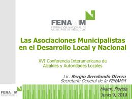 Las Asociaciones Municipalistas en el Desarrollo Local y Nacional