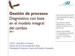 Diagnóstico de procesos con base en MIC 2011
