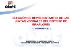 Tipos de voto - Municipalidad de Miraflores
