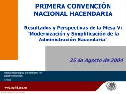Modernización y Simplificación de la Administración Hacendaria