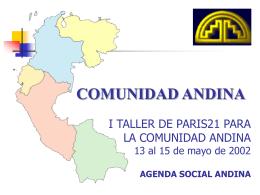 Agenda Social Andina