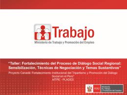 4 ta Diapositiva - Dirección Regional de Trabajo y Promoción del